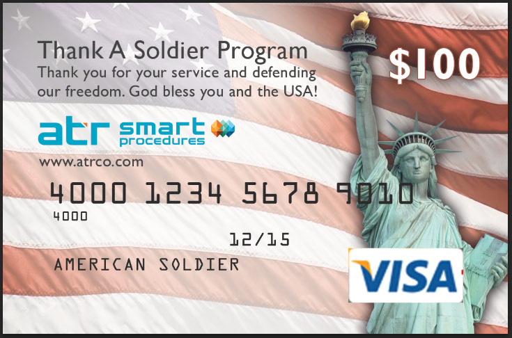 Thank a Soldier Gift Certificate